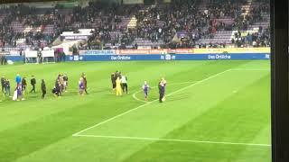 Osnabrück sieg Spieler zu den Fans