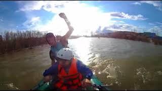 VR 360 video. Гопота на сплаве в резиновой лодке. Река Назас. Крутить - смотреть в стороны.
