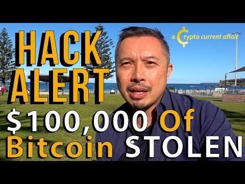 HACK ALERT $100,000 Of Bitcoin Stolen - REWARD BOUNTY - E40