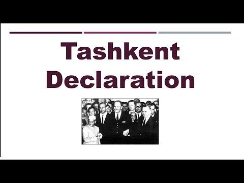 Tashkent Declaration - Understand in 100 Secs