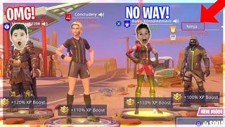 Trolling Ninja fans with Fake Ninja account on Fortnite...