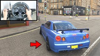 Forza Horizon 4 Nissan Skyline R34 GTR (Steering Wheel + Shifter) Gameplay