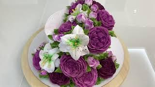 Шикарный ТОРТ 2 мя НАСАДКАМИ Красивый торт