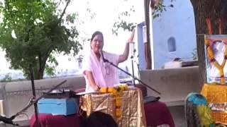 Anandeshwar Mandir me Sachcha Baba ki Katha Karti hui Guru Maa 3