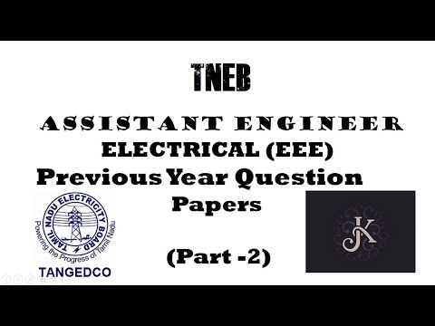 TNEB Assistant Engineer( Electrical) -2018 | Previous Year Q