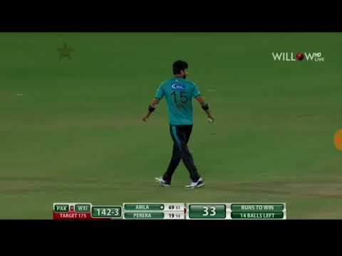 Thisara perera and hashim amla great batting in end wins it world world xi 2nd t20 vs pakistan