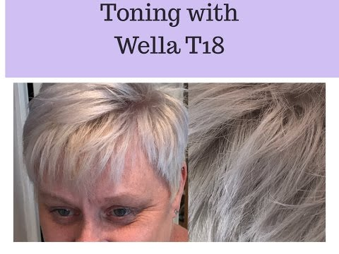 Wella Color Charm T18 Toner Results (Light Ash Blonde) Nice Look