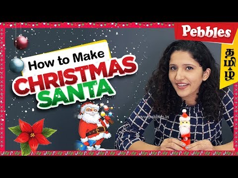 How to Make Christmas Santa Claus in Tamil/Christmas Special DIY Decoration Craft/Easy DIY Craft