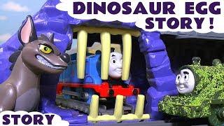 Thomas and Friends Dinosaur Egg Prank with Tom Moss and Lion Guard Kion Surprise Eggs TT4U