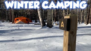 WINTER CAMPING IN NËW HAMPSHIRE
