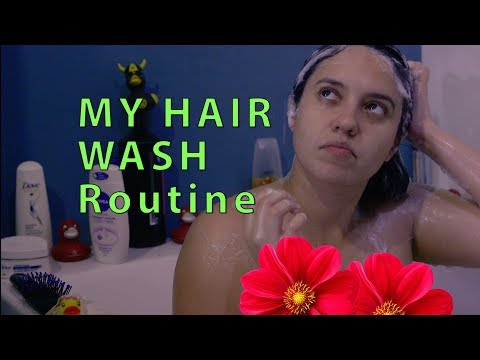 My Hair Washing Routine (from the Bathtub)
