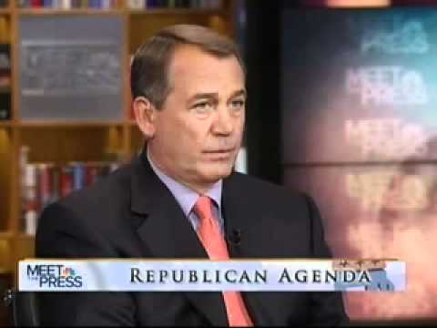 Speaker Boehner talks Jobs and the Economy on Meet the Press