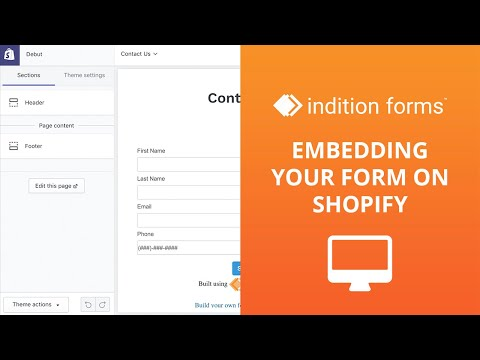 How to Embed your form into Shopify