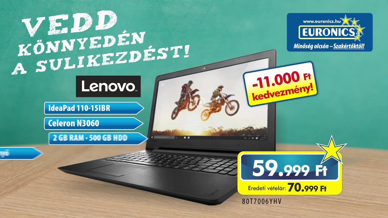 Euronics Lenovo notebook akció - YouTube 255e70b8df