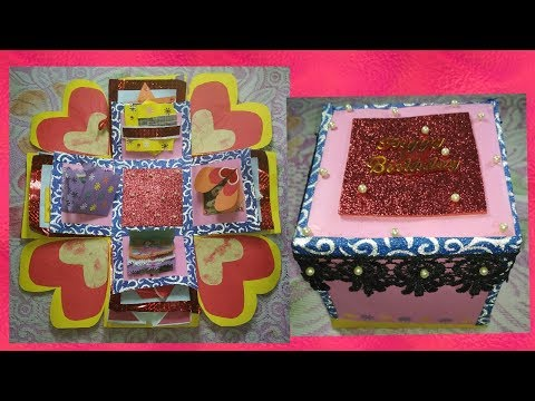 DIY gift idea|| surprise Exploding Box for beginners||