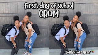 grwm for the first day of school | TWIN EDITON