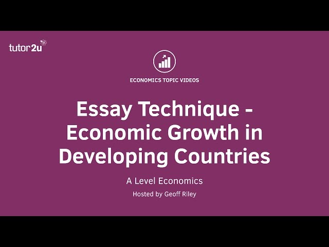 developmental economics essay Free essay: economic growth is a necessary but not sufficient condition of economic development there is no single definition that encompasses all the.
