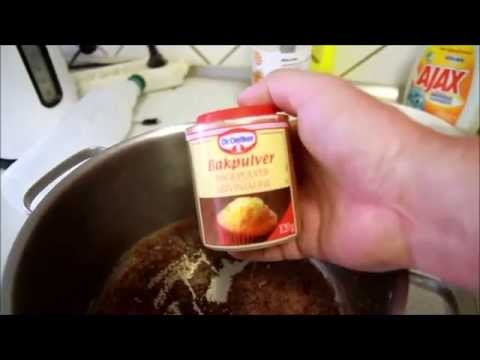 Clean your burned pot, household trick