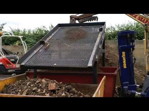 VIDEO 1 TEST-TRIAL RUN NEW DEMO SOIL WASTE SCREENER UPRATED MK3 MODEL