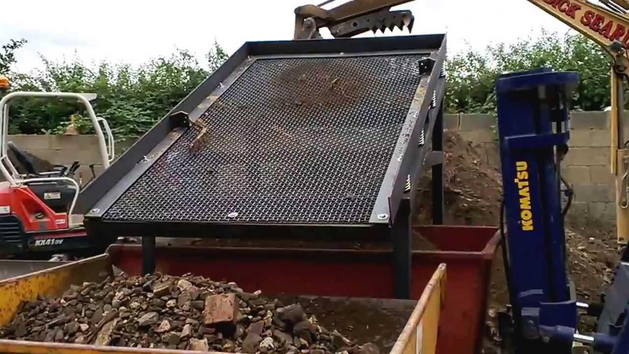 Video 1 test trial run new demo soil waste screener for Topsoil screener