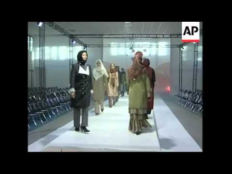 Iranian fashion designers are displaying their latest Islamic inspired collections