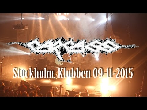 CARCASS live in Stockholm, Klubben 09-11-2015