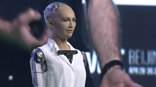 Human-Like Robot Steals Show at GMIC 2016 in Beijing