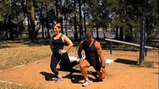 Single leg squats - John Knight Memorial Park