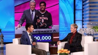 Download Ellen Meets 'Jeopardy!' Contestant Who Made Alex Trebek Emotional Mp3 and Videos