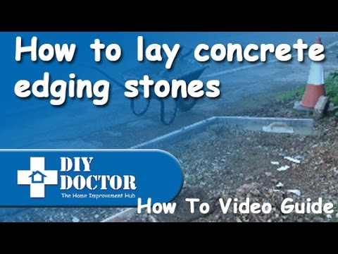 Laying Concrete Edging Stones to a Driveway