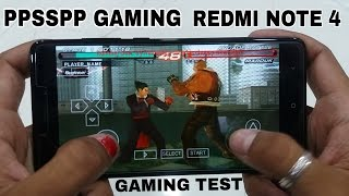 Redmi Note 4 4Gb Ram PPSSPP Gaming Test Assassin's creed And Takken6 Play Without setting