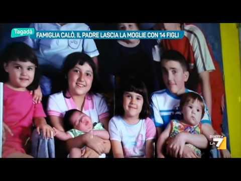 Famiglia Calò, il padre lascia la moglie con 14 figli