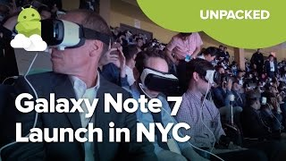 Samsung Unpacked 2016 Galaxy Note 7 launch in 4 minutes!