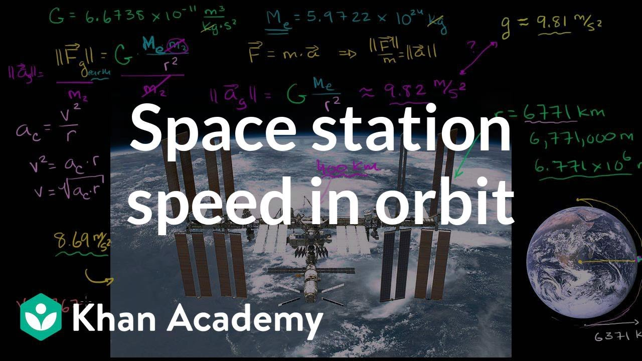 Space station speed in orbit (video) | Khan Academy