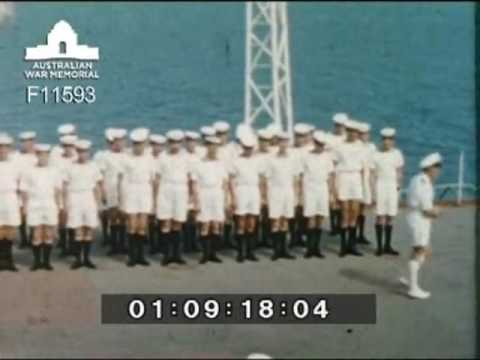 Alan Wallace White home movie HMAS Vengeance return to United Kingdom