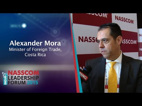 Alexander Mora, Minister of Foreign Trade, Costa Rica