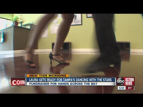 Laura Harris participates in Tampa's Dancing with the Stars, Hands Across the Bay