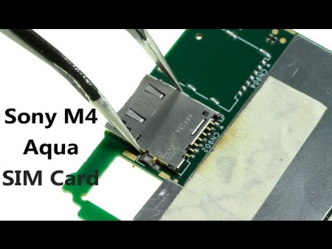 Sony Xperia M4 Aqua Sim Card Reader Repair Guide Youtube