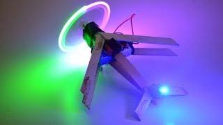 Як зробити светодиод на літак з паличок від морозива - вироби іграшки водити літак ескімо з мотором DC