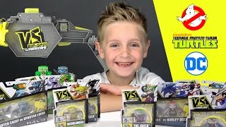 VS Rip-Spin Warriors Unboxing with DC Superheroes, Ghostbusters, and Ninja Turtles by KIDCITY