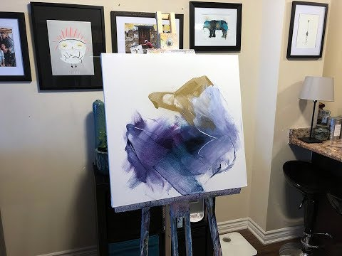 Abstract Painting Techniques using Acrylics & Catalyst Wedge (Timelapse Demonstration)