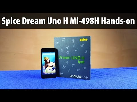 Spice Dream Uno Mi 498H Review: New Android One Device with Local Language support
