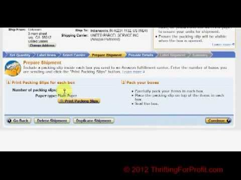 How To Print FBA Labels Using Amazon Seller Central - Amazon FBA -  Fulfillment By Amazon