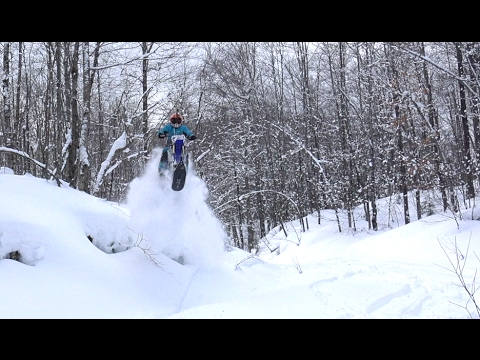 Timberled snowbike - PowerModz tries for the first time!!