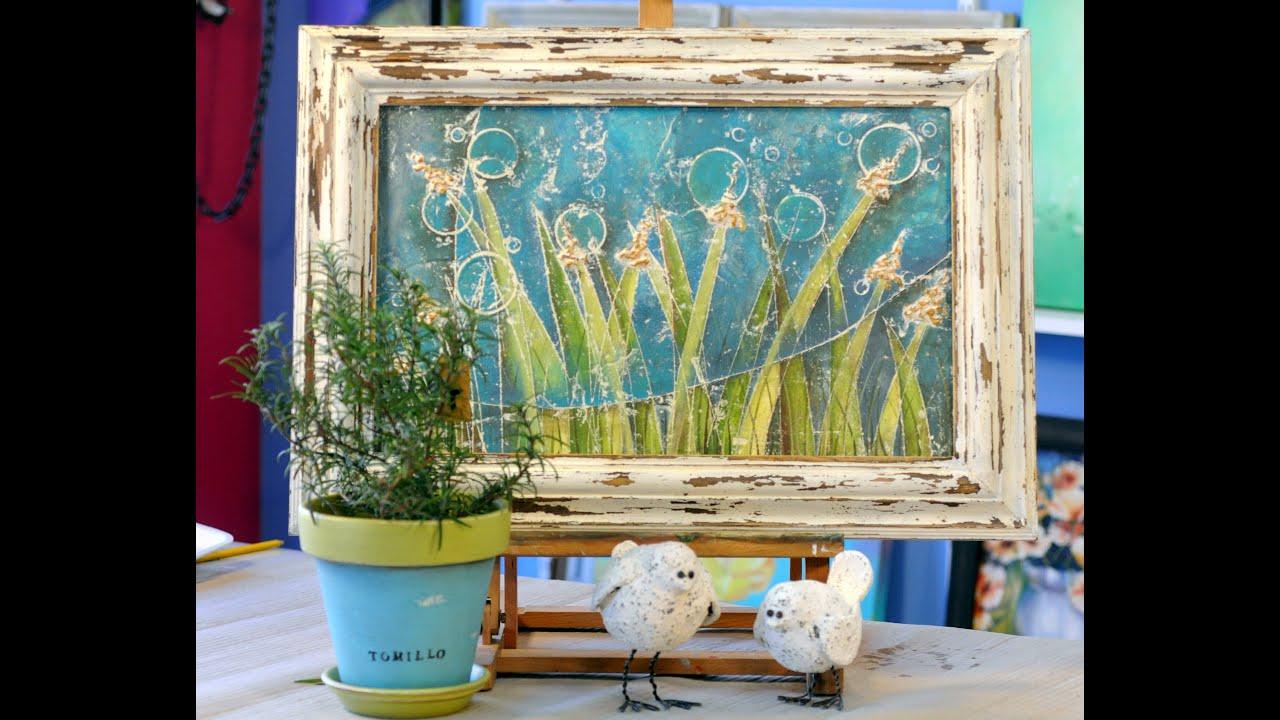 Papel mache cuadro abstracto en papel mache marcos for Marcos originales para cuadros
