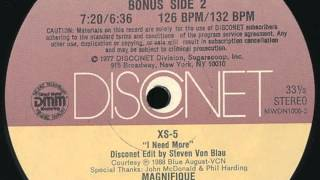 XS-5 / I Need More (Disconet Remix)