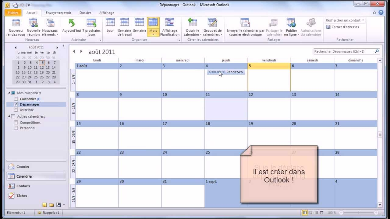 outlook how to make calendar view default