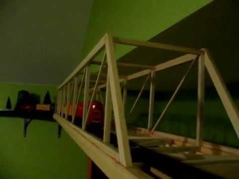 Ho Scale Train On Wall Near Ceiling In Bedroom Youtube