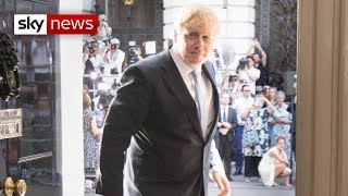 Boris Johnson enters Number 10