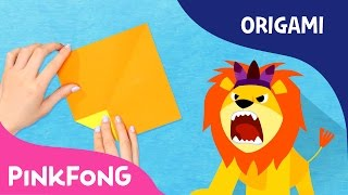 Lion | Animal Song With Origami | Pinkfong Origami | Pinkfong Songs for Children